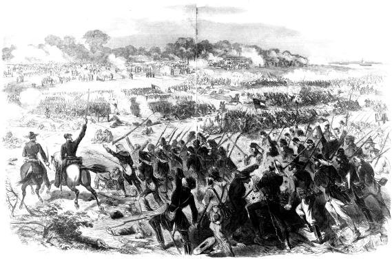 [Battle of Malvern Hill: Harper's Weekly, July 26, 1862, page 472]