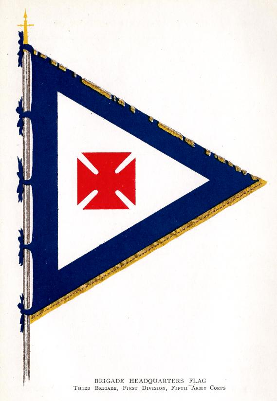 [Brigade Headquarters Flag, Third Brigade, First Division, Fifth Army Corps]