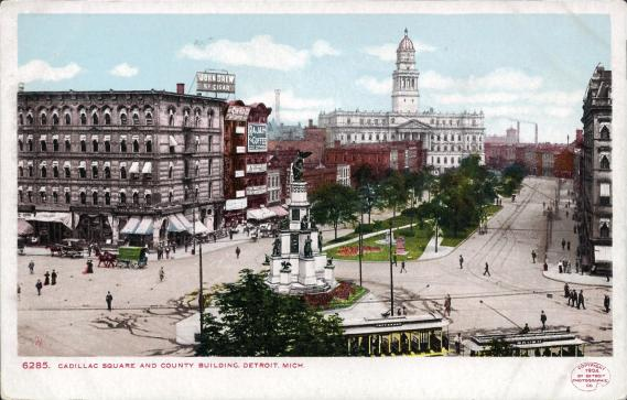 [Cadillac Square and County Building, Detroit, Mich.]