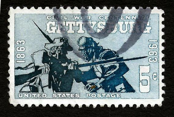 [Battle of Gettysburg stamp, issued in 1963]
