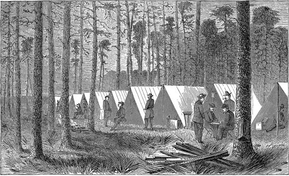 [Headquarters of General Sherman in the Pine Woods]