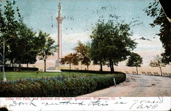[Libby Hill Park, and Soldiers and Sailors Monument, Richmond, Va]