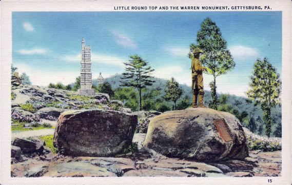 [Little Round Top and the Warren Monument, Gettysburg, Pa.]
