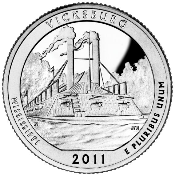 [Vicksburg National Military Park America the Beautiful coin, issued in 2011]