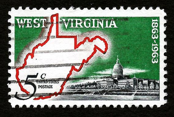 [Stamp issued in 1963 to commemorate the 100th anniversary of the statehood of West Virginia]
