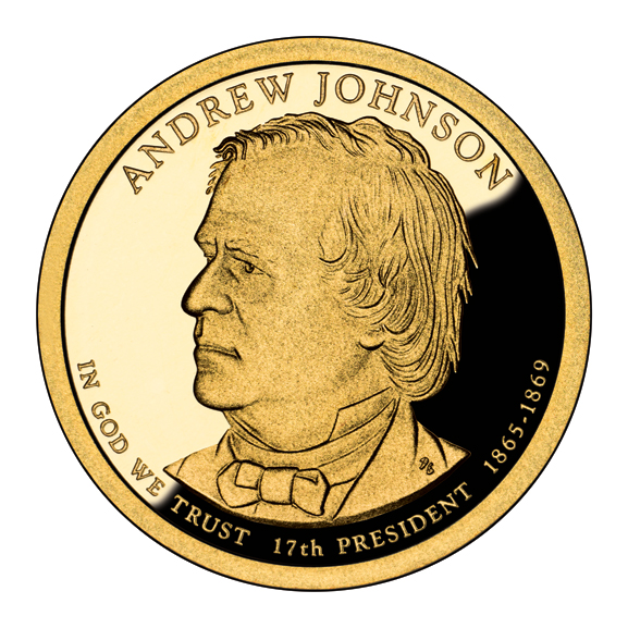 [Andrew Johnson $1 coin, issued in 2011]