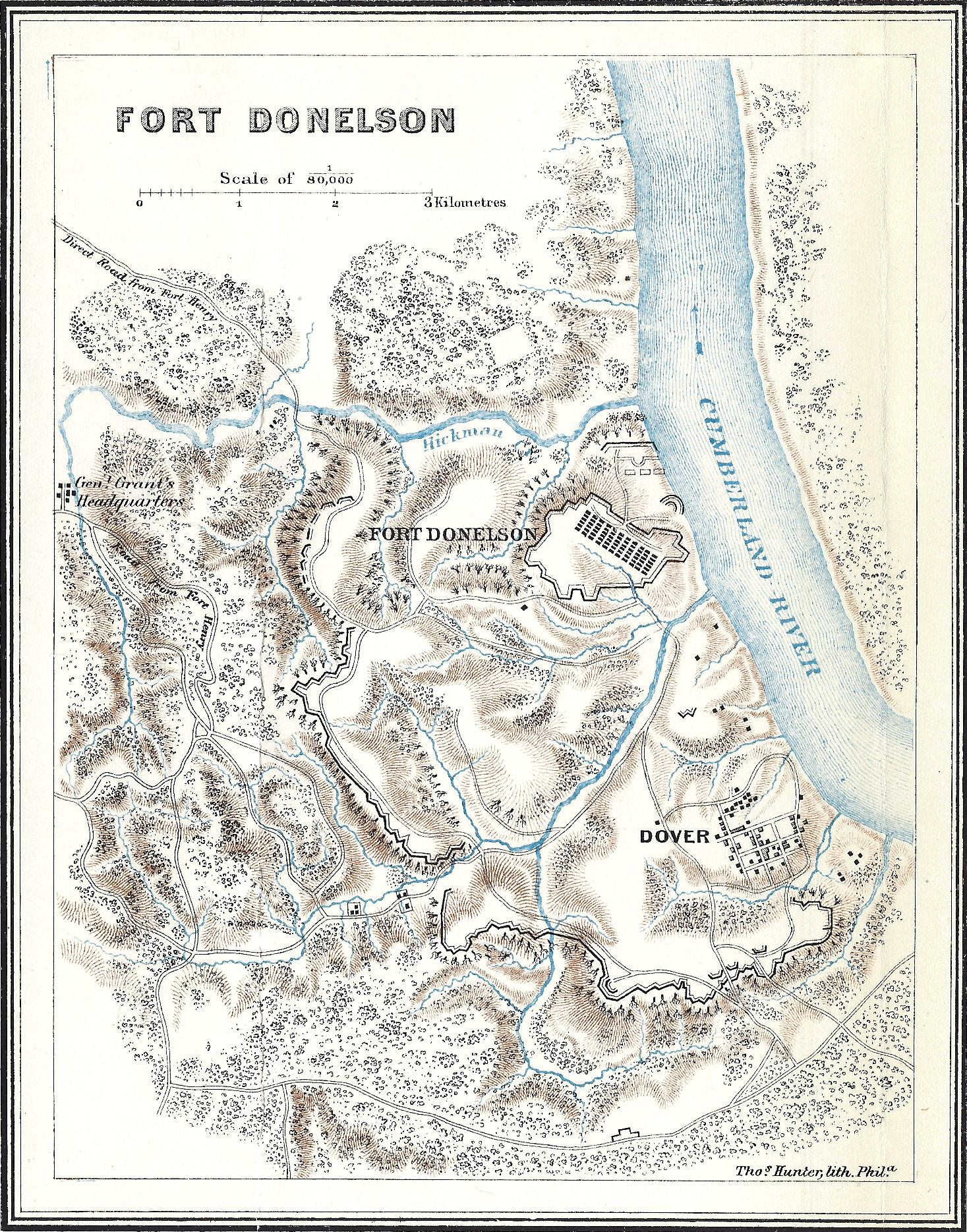Battle Of Fort Donelson The American Civil War - Fort donelson on us map