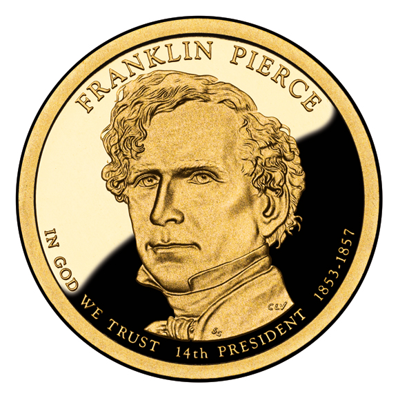 [Franklin Pierce $1 coin, issued in 2010]