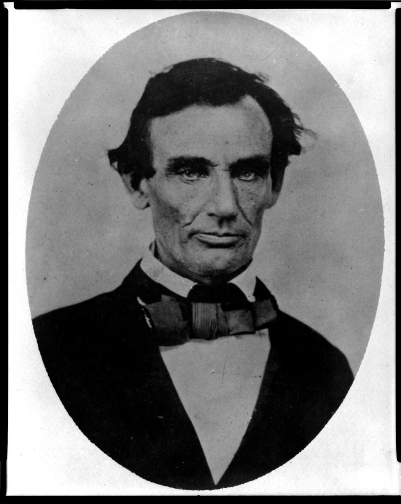Abraham Lincoln in 1858.