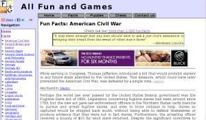 Fun Facts: American Civil War