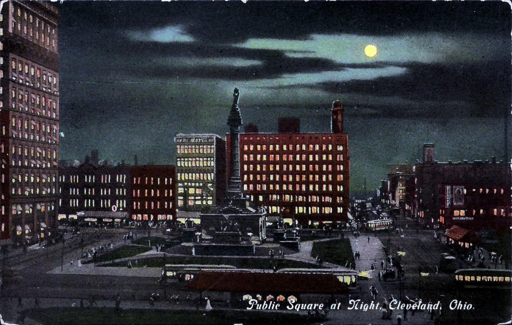 Public Square at Night, Cleveland, Ohio